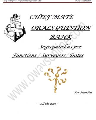 1st Mate Orals Surveyor Question Set Mumbai