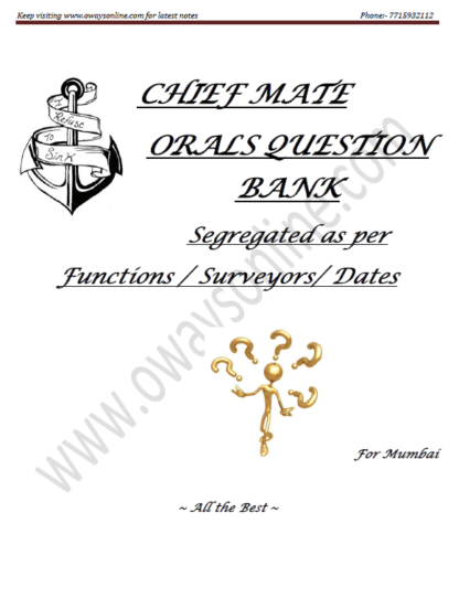 1st Mate Orals Surveyor Question Set Mumbai