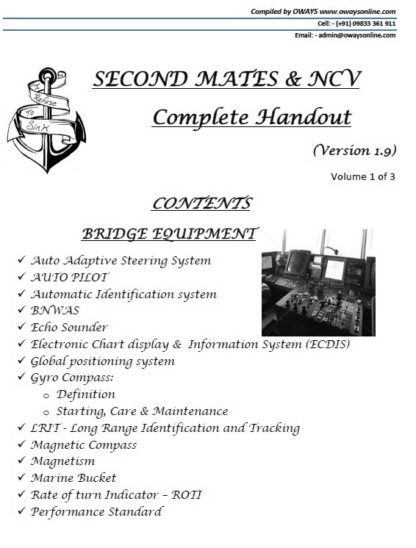 2nd Mate (F.G.) & NCV (NWKO) - Volume 1 (Bridge Equipment, Bridge Watchkeeping, Ship Handling & Navigation)