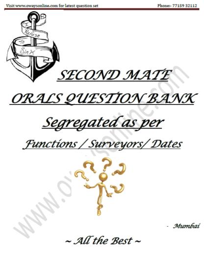 2nd Mate MMD Orals Surveyor Question Set mumbai
