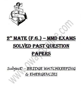 2nd Mate Solved Bridge Watchkeeping & Emergency