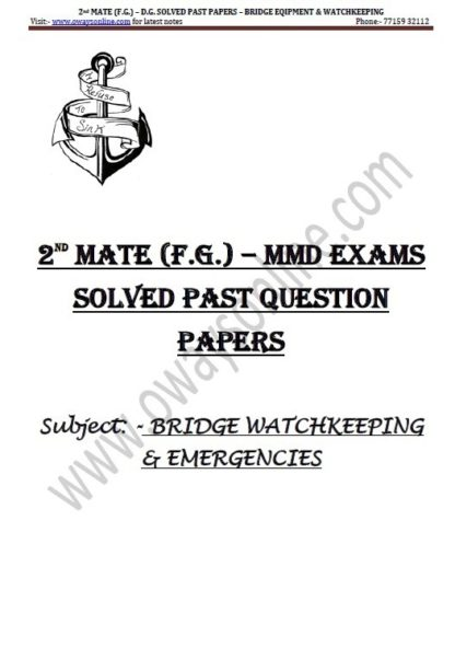 2nd Mate Solved Bridge Watchkeeping & Emergency