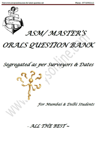 ASM ORALS QUESTION SET Mumbai & Delhi