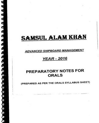 ASM Orals Preparatory Notes by Samsul Alam Khan