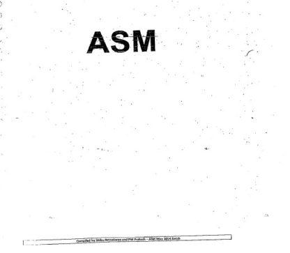 ASM / Masters Orals Preparatory Notes by Shibu & P.M. Prakash