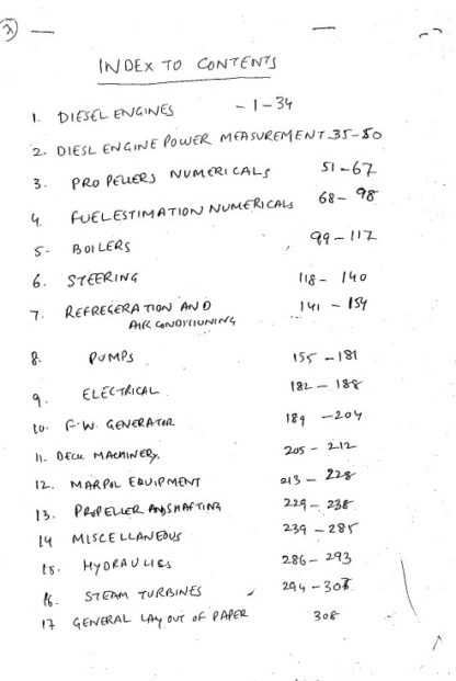 Engineering Knowledge Consolidated Notes for Phase 2 Chief Mate