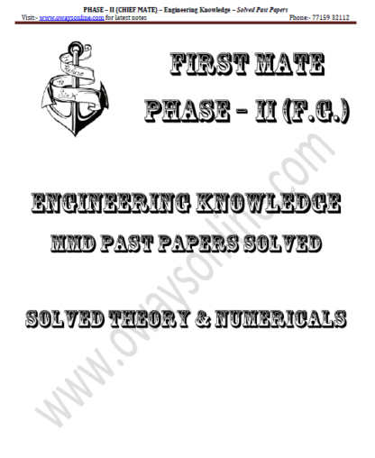 Engineering Knowledge Solved Past Papers Phase 2 Chief Mate