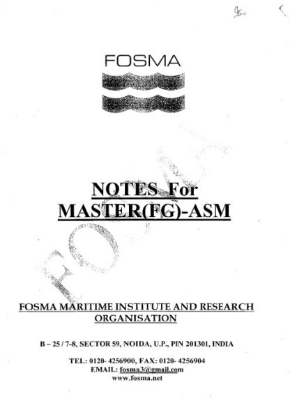 Fosma Notes for Writtens ASM / Masters Exams