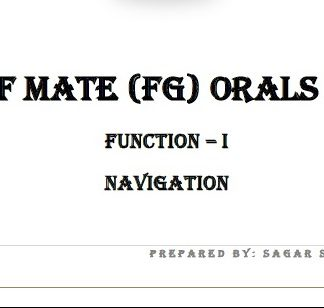 Function 1 - Chief Mate Orals Notes by Sagar Das
