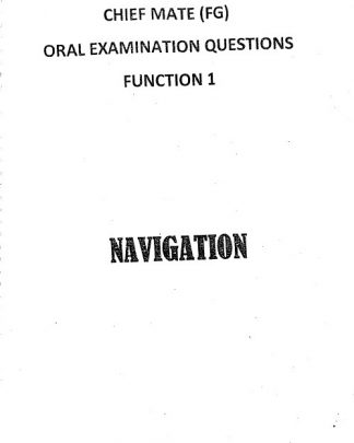 Functions 1 - Chief Mate Orals Notes - By Mukesh Jivraj