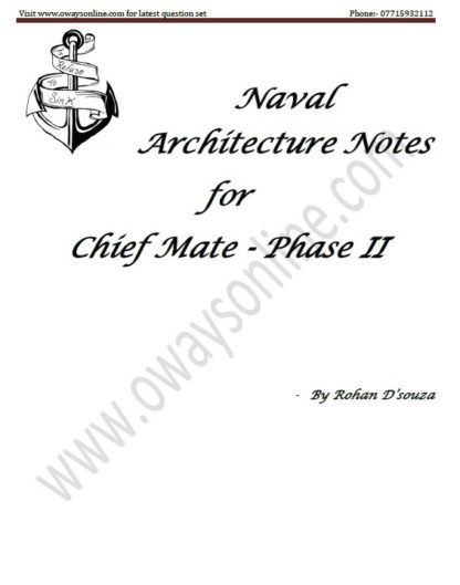 Naval Architecture Notes for Phase 2 Chief Mate by Rohan D'souza (Theory Only)