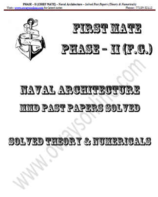 Naval Architecture Solved Past Papers Phase 2 Chief Mate