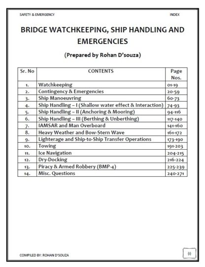Safety Notes for Phase 2 - Chief Mate by Rohan D'souza